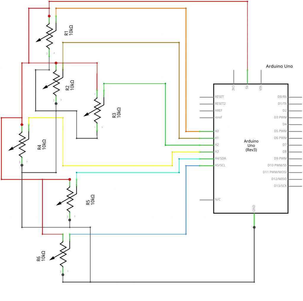 Cap-Pad schema potenziometri