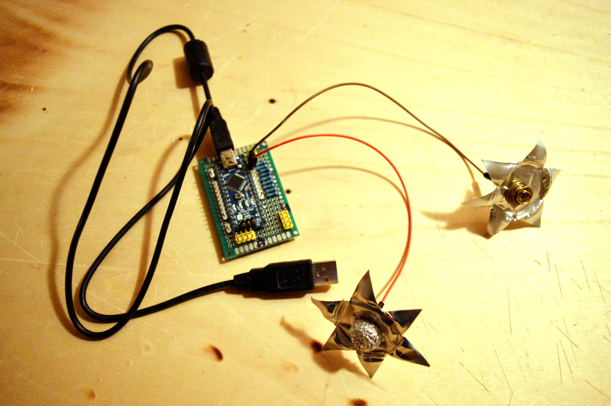 Gestire nove sensori capacitivi con CapBoard