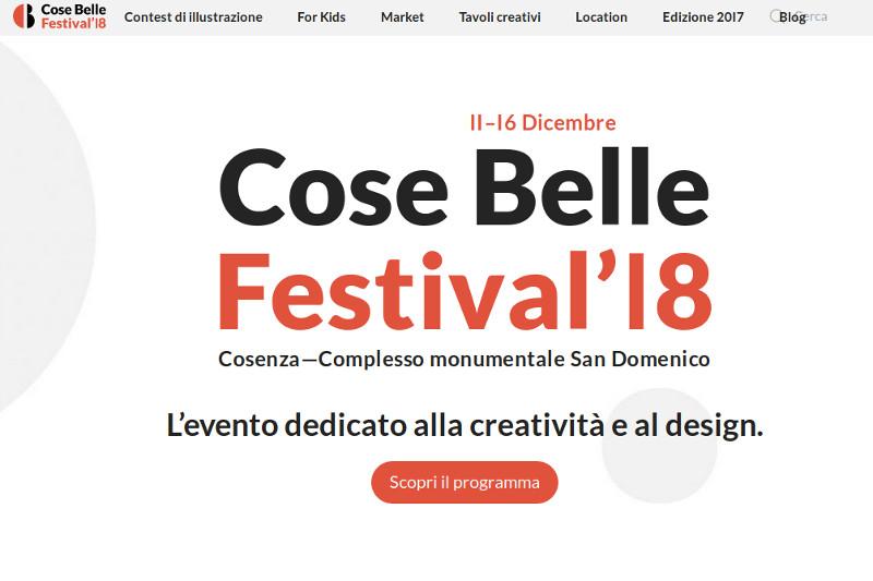 Anche quest'anno Artis Lab partecipa al Cose belle festival